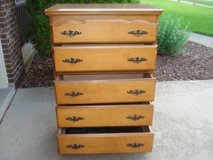 5 drawer upright dresser - very good condition in Shorewood, Illinois