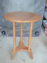 SOLID OAK ROUND END TABLE in Joliet, Illinois