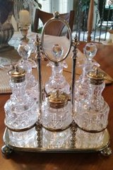 Silver and Cut Glass Castor Set in Chicago, Illinois