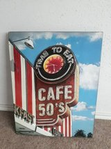 Large Metal 3D Cafe Wall Decor Sign in Tomball, Texas