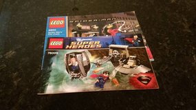 2 Lego Super Heroes Instruction Books in Oswego, Illinois