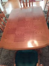 Solid wood Dining room China Hutch and Table/5 chairs/leaf in Beaufort, South Carolina