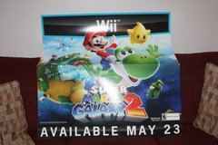 Huge 2010 Wii Super Mario Galaxy Advertising Poster in Spring, Texas