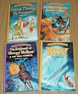 Set of 4 Treasury of Illustrated Hard Cover Books Sleepy Hollow Moby Dick 20000 Leagues Swiss Fa... in Chicago, Illinois