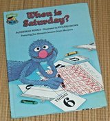 Vintage 1981 Sesame Street When Is Saturday Hard Cover Book Jim Hensons Muppets in Joliet, Illinois