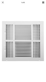 Accord ABSWWH41212 Sidewall/Ceiling Register w/4-way Design, 12-inch x white in Quantico, Virginia