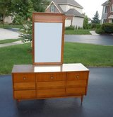 Mid-Century Modern Bedroom Dresser with Mirror Back in St. Charles, Illinois
