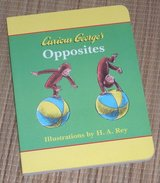 Vintage 1998 Curious Georges Opposites Hard Cover Board Book in Joliet, Illinois
