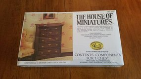House of Miniatures #40010 Chippendale Chest of Drawers Kit NEW in Aurora, Illinois