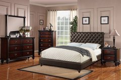 New! Espresso Tufted Queen Bed Frame (other sizes) FREE DELIVERY in Vista, California