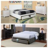 New! FULL or QUEEN Charcoal or White Bed Frame + Storage FREE DELIVERY in Vista, California