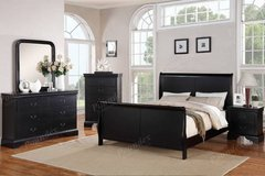 New! Queen Hardwood Sleigh Bedframe FREE DELIVERY in Vista, California