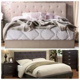 New Queen Ivory or Charcoal Tufted Bed Frame FREE DELIVERY in Vista, California