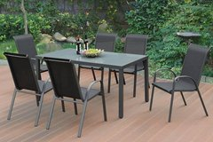 New! 7 Piece Dining Table and 6 Chairs Outdoor Patio Set FREE DELIVERY in Vista, California