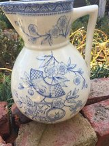Picther Large Transferware Blue in Cary, North Carolina