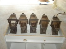 Set of 5 outdoor house lights (COMPLETE) $10 takes all 5 lights in Joliet, Illinois