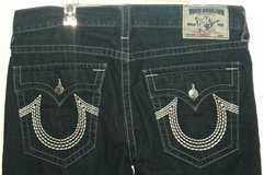 True Religion Straight Denim Jeans mnens Tag 36 Measures 37 x 33 Long Tall in Joliet, Illinois
