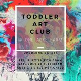 Toddler Art Club at One Acre Farm in Kingwood, Texas