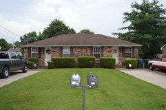 All brick duplex with separate concrete drives. in Fort Campbell, Kentucky