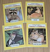 4 Vintage 1985 Getting To Know Natures Children 2 Sided Books 2 In 1 Hard Cover in Oswego, Illinois