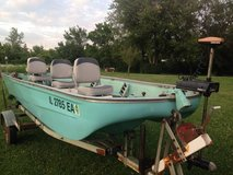FISHING  BOAT  15'   FIBERGLASS  25 HP  JOHNSON  MOTOR in Bartlett, Illinois