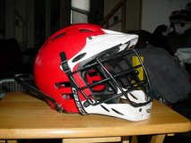 Cascade Lacrosse Helmet Red/Black/White Size Small in Chicago, Illinois