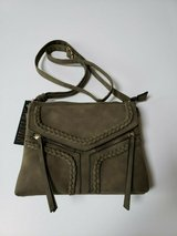 nwt violet ray nyc magnetic flap crossbody purse * olive in Westmont, Illinois