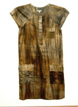 Walter Baker Anthropologie Silk Blend Tea Stained Sheath Dress Womens 2 in Chicago, Illinois