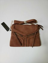 nwt violet ray nyc magnetic flap crossbody purse * burnt sienna in Westmont, Illinois