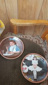 "2 Norman Rockwell Porcelain Plates of Girls! Mint condition. ""GOOD INTENSIONS"" & ""SITTING PRETTY"" in Bellaire, Texas"