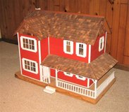 Vintage Large Wood Dollhouse Handmade - Some Miniatures in Glendale Heights, Illinois