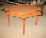 "Vintage Wood Poker Table - Octagon - 52"" Diameter in Glendale Heights, Illinois"