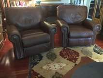 Two Brown Leather Electric Recliners. 200$ each. 300$ both in St. Charles, Illinois