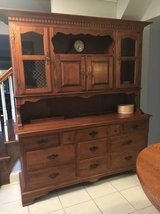 ~Farmhouse Buffet and Hutch~Heywood Wakefield in St. Charles, Illinois