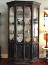 Custom Painted Black China Cabinet ** in Glendale Heights, Illinois
