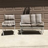 Aluminum Patio Glider and Chair with Cushions in Travis AFB, California