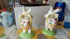 "2 Dept 56 ""SNOWBUNNIES"" Easter Figurines!    Nice condition! in Kingwood, Texas"
