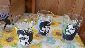 3 BEATLES Pint Size Glassware! Paul, George, Ringo ( John is missing) in Bellaire, Texas