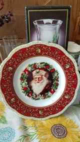 "Nice Christmas Santa Claus Porcelain Plate! About 8"" plate in Bellaire, Texas"