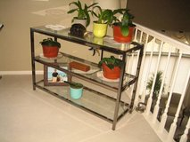 Metal & Glass Shelving Unit in Glendale Heights, Illinois