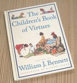 Vintage 1995 Childrens Book of Virtues Over Sized 1st Edition Hard Cover Educational in Joliet, Illinois