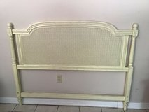 French Provincial Louis XVI Camille Style Queen Size Caned Headboard in Kingwood, Texas