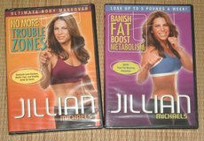 2 NEW Jillian Michaels DVD Banish Fat Boost Metabolism No More Trouble Zones Lot in Oswego, Illinois