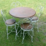 Vintage Ice Cream Shop Chairs and Table in Aurora, Illinois