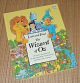 Vintage 1993 Wizard of Oz Look and Find 1st Edition Over Sized Hard Cover Book in Plainfield, Illinois