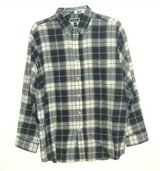 Club Room Plaid Button Down Flannel Shirt w Pocket 2X Blue White Green 2XL XXL in Yorkville, Illinois