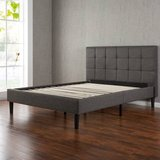 Queen Size Upholstered Square Stitched Platform Bed - New! in Oswego, Illinois