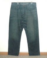 Old Navy Famous Relaxed Straight Denim Jeans Mens Tag 38x32 Measures 36 x 32 in Morris, Illinois