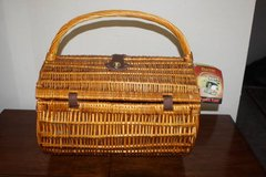 New Dahlia Barrel Picnic Time Basket Setting for Two in Kingwood, Texas