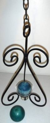 New! Hanging Metal / Glass Candle Holder - Home Decor in Joliet, Illinois